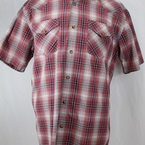 Pendleton Cowboy Snap Wine Brown Plaid Mens ShirtM
